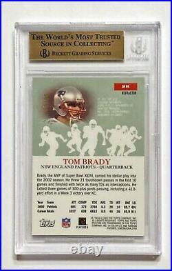 2003 Topps Pristine TOM BRADY #76/99 Refractor SP BGS 10 Pristine! POP 2