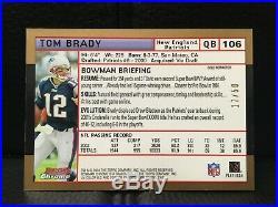 2004 Bowman Chrome #106 Gold Refractor Tom Brady 17/50 Mint