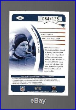2004 Donruss Playoff Prime Signatures Proof Bill Belichick Auto #64/125