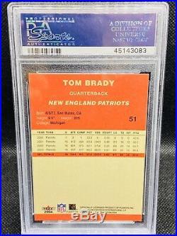 2004 Fleer Tradition #51 Tom Brady Patriots Psa 10 F2847654-083