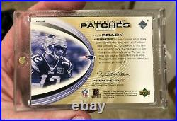 2004 SP Game Used Tom Brady 3 COLOR BIG DIRTY PATCH #/100 Patriots GOAT MUST SEE