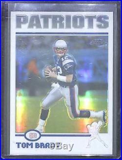 2004 Topps Chrome Football Refractor #125 Tom Brady