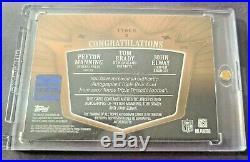 2007 Topps Triple Threads Tom Brady Peyton Manning Elway TRIPLE PATCH AUTO 10/27