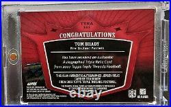 2007 Triple Threads TOM BRADY #12 DIE-CUT JERSEY NUMBER AUTO #1/18 EBAY 1/1 SSP