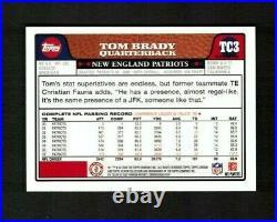 2008 Topps Chrome #TC3 TOM BRADY Blue Refractor SP