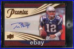 2008 Upper Deck Premier Penmanship #PP73 Tom Brady Auto Autograph 47/65