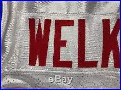 2009 Wes Welker New England Patriots Team Game Issued Throwback Jersey Size 44