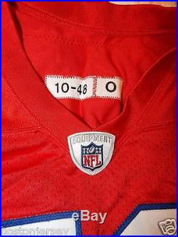 2010 New England Patriots Red TBTC Home Game Used Worn Jersey 59 Gary Guyton