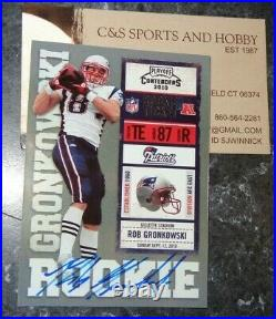 2010 Playoff Contenders Rob Gronkowski Auto Rookie WHITE JERSEY