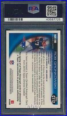 2010 Topps Chrome Rob Gronkowski RC Rookie AUTO New England Patriots PSA 9 MINT