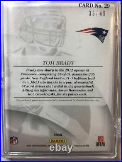 2012 Panini Limited Threads TOM BRADY 3 Color Patriots Patch #d 49