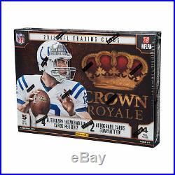 2013 Panini Crown Royale Football Hobby 12-Box Case