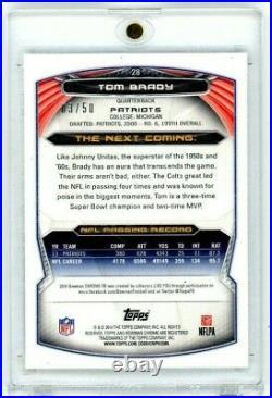 2014 Bowman Chrome Tom Brady Gold Refractor 3/50 Patriots NFL HOF #28 Near Mint