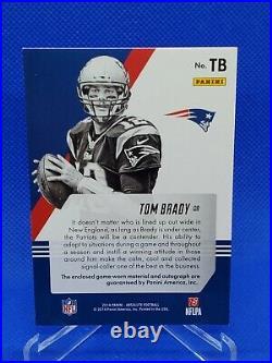 2014 Panini Absolute Tom Brady Auto #d /10 Autograph