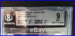 2015 National Treasures Tom Brady Auto 9/10 BGS 9