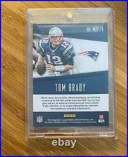 2015 Panini MVP Contenders #1/10 Tom Brady Auto Autograph PATRIOTS