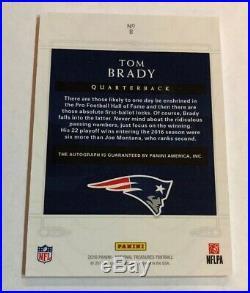 2016 2018 National Treasures TOM BRADY Canton Bound On Card Auto 5/10 Patriots