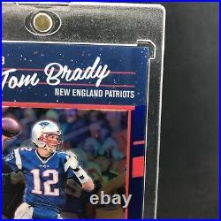 2016 Donruss First Year Optic Tom Brady Blue Holo Prizm #128/149 Patriots GOAT