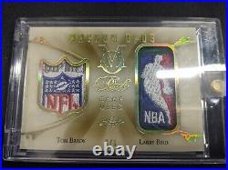 2018-19 Leaf Pearl Ms Magnum Opus Tom Brady/larry Bird Gu Shield Patches 1/1 Mo1
