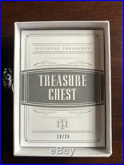 2018 National Treasures Hof Chest Patch Booklet /25 Brady Deion Moss Montana Lt