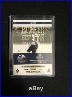 2018 Panini Contenders Optic Tom Brady Player of the Year BLUE AUTO 2/5 PATRIOTS