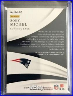 2018 Panini Immaculate Sony Michel Laundry Tag RC 1/2 New England Patriots