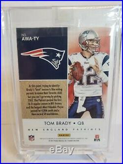 2018 Panini One 2007 Award Winners NFL MVP Tom Brady Patriots AUTO SP #/5 Sealed