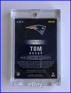 2018 Tom Brady Panini Origins Rise to the Hall Patriots Logo Patch #1/1 G. O. A. T