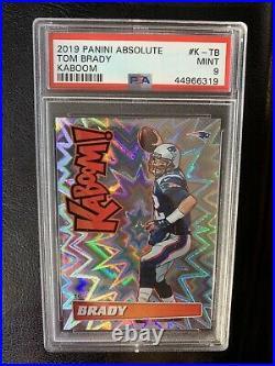 2019 Absolute Kaboom K-TB Tom Brady PSA 9 MINT New England Patriots