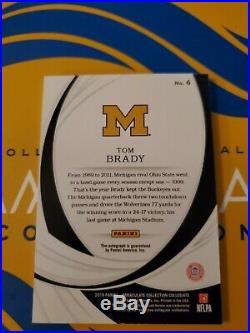 2019 Immaculate CollegiateTom Brady AutoImmaculate ink4/25G. O. A. T