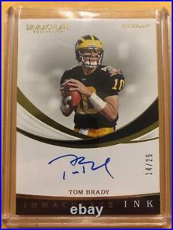2019 Panini Immaculate Collegiate Tom Brady Auto /25 Patriots Bucs Michigan