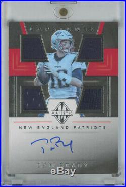 2019 Panini Majestic Capstones Autographs #CP-TM Tom Brady Patriots Auto 02/10