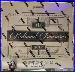 2019 Panini National Treasures College Football Factory Sealed Hobby Box(1 box)