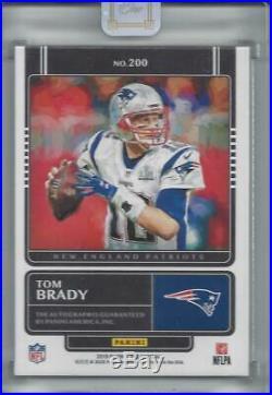 2019 Panini One Matchless Tom Brady Auto Autograph #ed 4/10