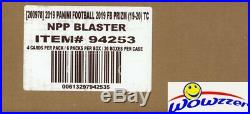 2019 Panini Prizm Football EXCLUSIVE Factory Sealed Blaster CASE-20 MEMORABILIA
