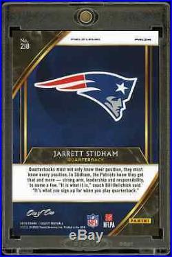 2019 Panini Select Jarrett Stidham Field Level Black #1/1 Patriots Rookie RC