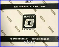 2020 Donruss Optic Football Factory Sealed Cello Fat Pack Box