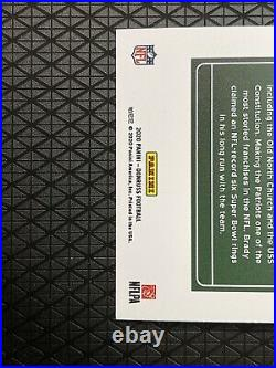 2020 Panini Donruss Tom Brady Downtown #D-TB SSP Insert Patriots Uniform Prizm