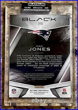 2021 Panini Black MAC JONES ROOKIE PATCH AUTO Autograph#d 21/149! PATRIOTS! HOT