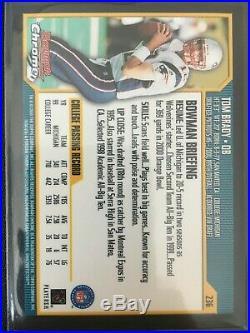 (2) 2000 Bowman Chrome Tom Brady Rookie #236 BGS 9 with 10 and (2) 9.5 GOAT