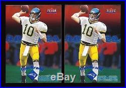(2) TOM BRADY 2000 Fleer Mystique RC LOT #/2000 New England Patriots Rookie Card