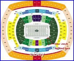 2 of 6 Tickets New England PATRIOTS @ vs New York JETS 11/25 Field Sec 133 Row 4