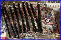 (9) 2000 Bowman Football Wax Packs Tom Brady Rookie