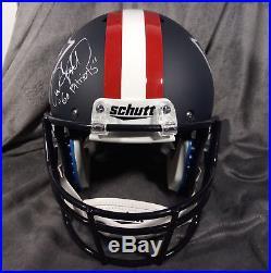 ANDRE TIPPETT signed NEW ENGLAND PATRIOTS full size matte helmet JSA W COA fs ne