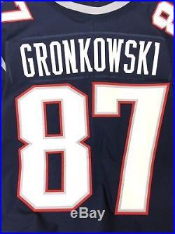 Authentic Rob Gronkowski New England Patriots Jersey 44 Nike Vapor Elite 40 48