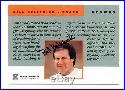 BILL BELICHICK 1991 Pro Line Portraits Certified Rookie RC Auto Autograph AU SP