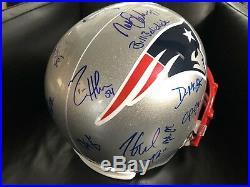 BRADY New England PATRIOTS Autogramm Football Helm NFL Edelman Signed Gronkowski