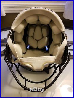 Baltimore Ravens Game Worn Albert McClellan Used Helmet New England Patriots