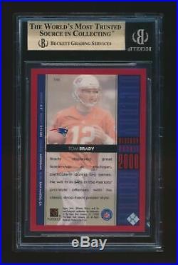 Bgs 9.5 Tom Brady 2000 Upper Deck Ultimate Victory Rookie Rc #/2000 Patriots