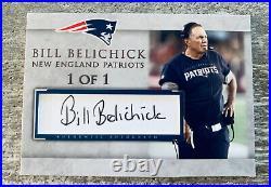 Bill Belichick New England Patriots Coach Hof Signed Custom Cut Auto Card #1/1